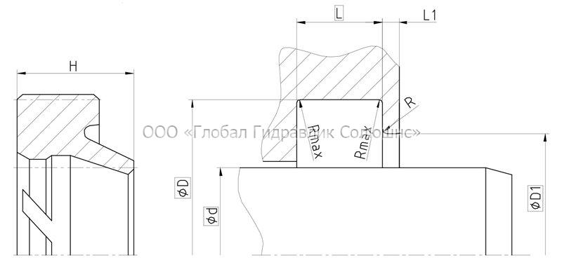 Рекомендации к размерам уплотняемых деталей A02-A
