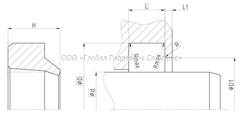 Грязесъемник D-А38-240x255x9,5/14 HPU чертеж 38.4745200.240.255.95.14