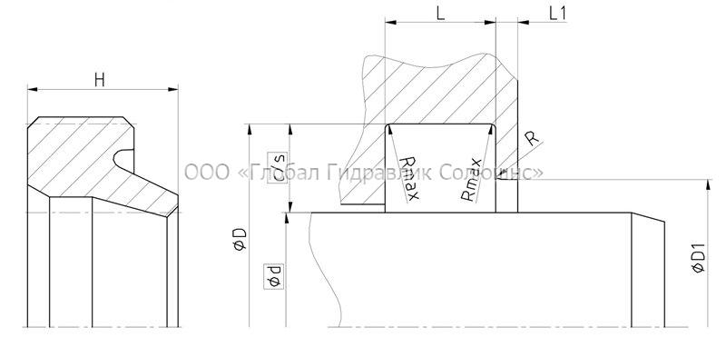 Рекомендации к размерам уплотняемых деталей A02-I