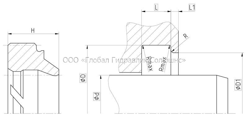 Рекомендации к размерам уплотняемых деталей A04-A