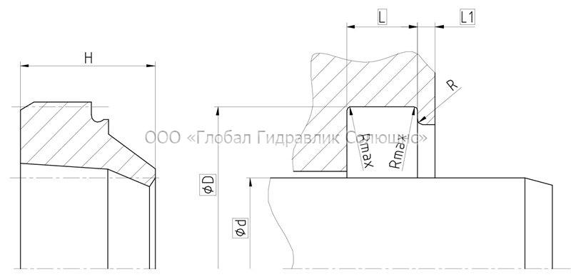 Рекомендации к размерам уплотняемых деталей A04-B