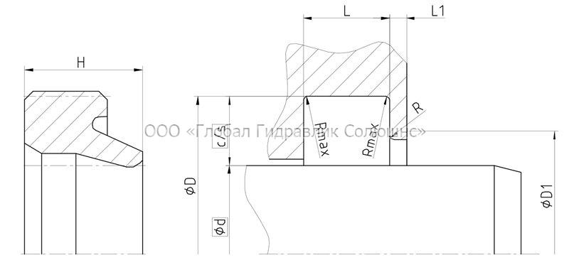 Рекомендации к размерам уплотняемых деталей A05-I
