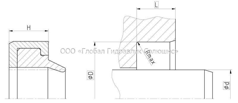 Рекомендации к размерам уплотняемых деталей A06-A