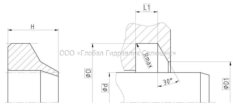 Рекомендации к размерам уплотняемых деталей A07-A