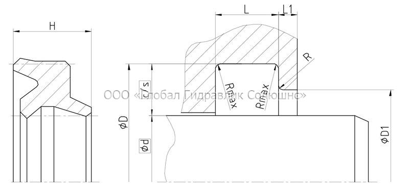 Рекомендации к размерам уплотняемых деталей A11-I
