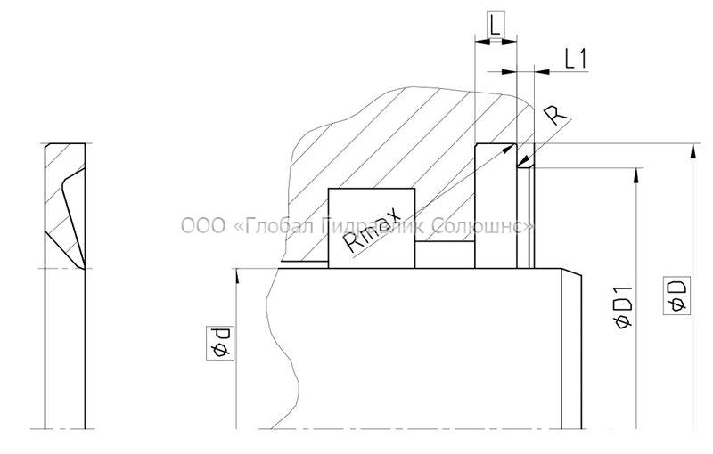 Рекомендации к размерам уплотняемых деталей A13-A