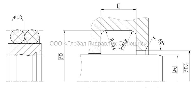 Рекомендации к размерам уплотняемых деталей A26-F