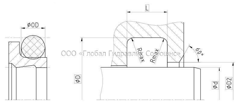Рекомендации к размерам уплотняемых деталей A27-F